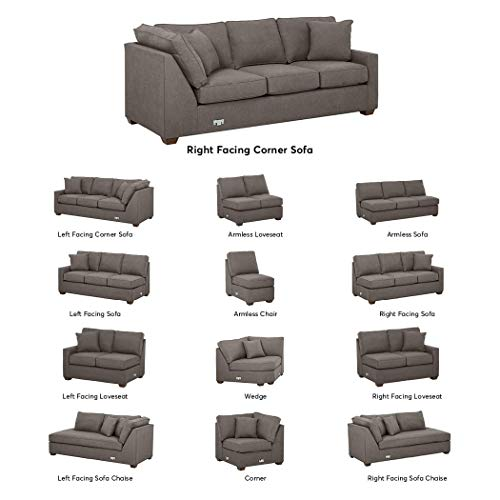 (Stone & Beam Bagley Sectional Component, Right-Facing Corner Sofa, Fabric, 90