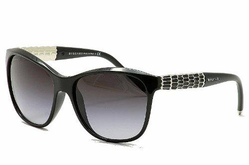 BVLGARI BV 8104 Sunglasses 901/8G Black Gray Gradient - Bvlgari Sunglasses 2012