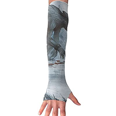 Creepy Animal Unisex Half Finger Arm Support Sleeve Long Sunproof Cuffs Riding