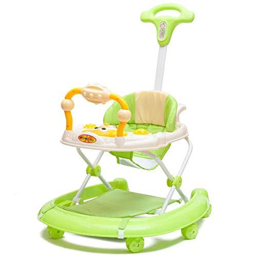 Andaderas Paseador de bebés Andador de actividades Walker evolutivo antideslizante andador de empuje multifunción plegables...