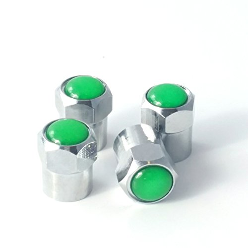 Green Valve Stem Caps - VCCB-G Counteract Air Tight Copper Tire Valve Cap - Green