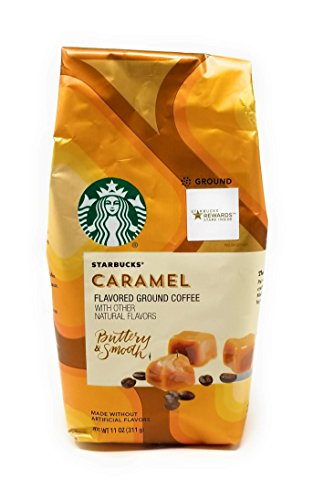 Starbucks Natural Fusions Ground Coffee, Caramel Flavored, 11-Ounce Packages (Pack of 2) ()