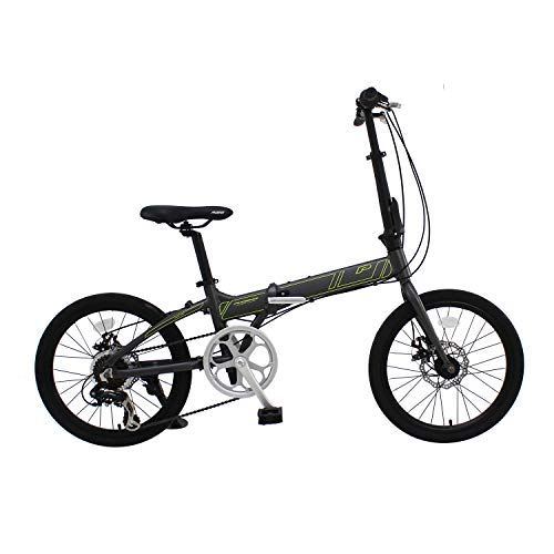 Phoenix Bicycle PF 20 Inch Aluminum Portable and Folding Bike with Disk Brake and Shimano 7 Speed  (20 Inch Folding)