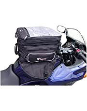 GEARS Explorer Motorcycle Tank Bag | 3-Level Magnetic Luggage Convertible to Backpack Includes Waterproof Rain Cover