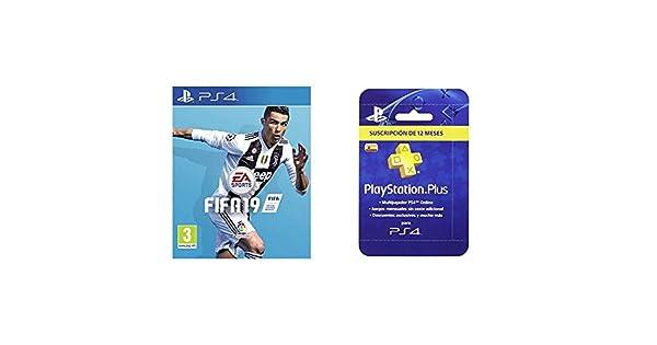 FIFA 19 Edición Estándar + Sony - Tarjeta PSN Plus Para 365 ...