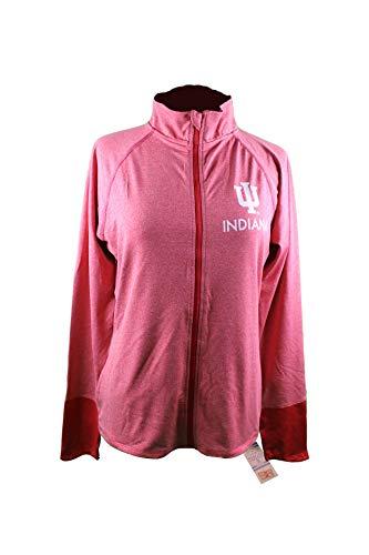 Knight Apparel NCAA Indiana University Women Jacket Pocket, Hoosiers, Heater Red, Large