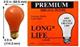 Incandescent Light Bulbs 60A99CO 130V Ceramic Orange (Case of 120)
