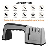 Knife Sharpener,4 in 1 Knife & Scissor Sharpener, 4-Stage Kitchen Knife Sharpener Tool, Sharpens Dull Knives Quickly,Suit for Various Knives,Best Choice for Chef & Family