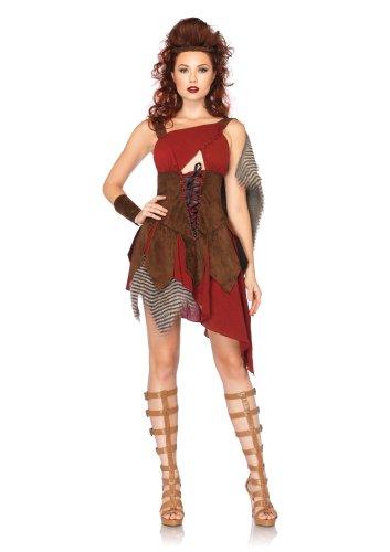 Leg Avenue Women's 3 Piece Deadly Huntress Costume, Brown, Small]()