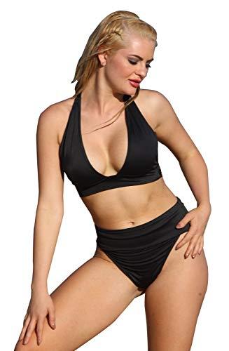- UjENA Banded Thong Bikini - Top: 1X & Bottom: LL Black Matte