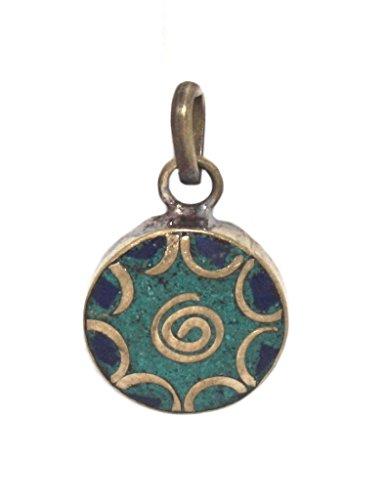 (Lapis Pendant Tibetan Pendant Turquoise Pendant)
