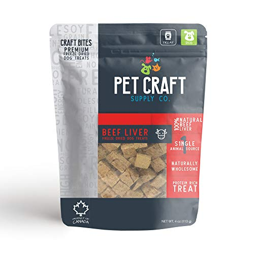 Pet Craft Supply Naturally Wholesome Single Animal Source Protein Rich Treats - Beef Liver from Pet Craft Supply