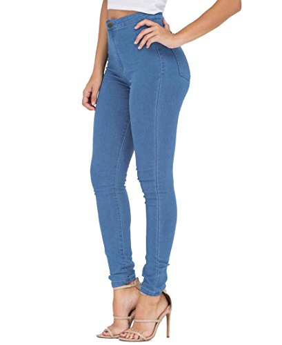 ESDAMIER-Womens-High-Waist-Butt-Lifting-Skinny-Jeans-Elastic-Pencil-Jeggings-Pants