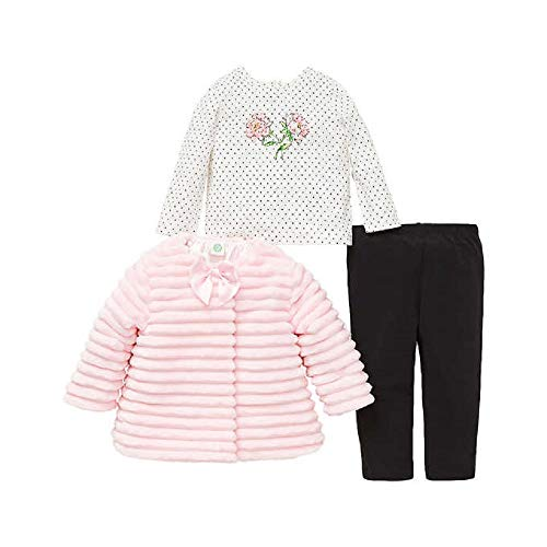 Little Me Kids 3-Piece Set ~ Kids Clothing Back to School Sets ~ (4T, Pink Faux ()