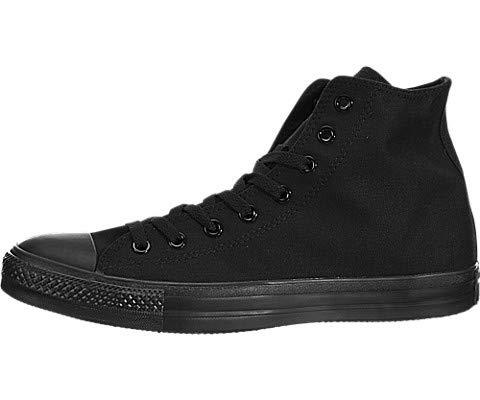 r All Star Canvas High Top Sneaker, Black Monochrome, 6.5 Men/8.5 US Women ()