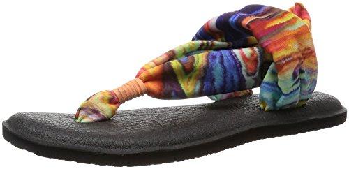 Sanuk Yoga Sling#2 Prints, Chanclas Para Mujer multicolor - Coral Multi Marble