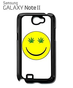 Weed Cannabis Smiley High Mobile Cell Phone Case Samsung Note 2 White