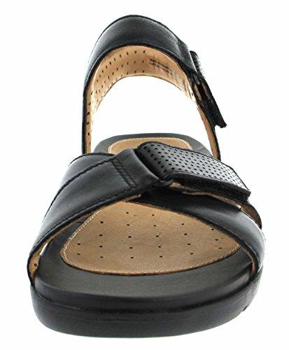 Elegante Un Sandalias Tamaño En 41½ Saffron Clarks Negro Piel Mujer Casual SIdwPIfq