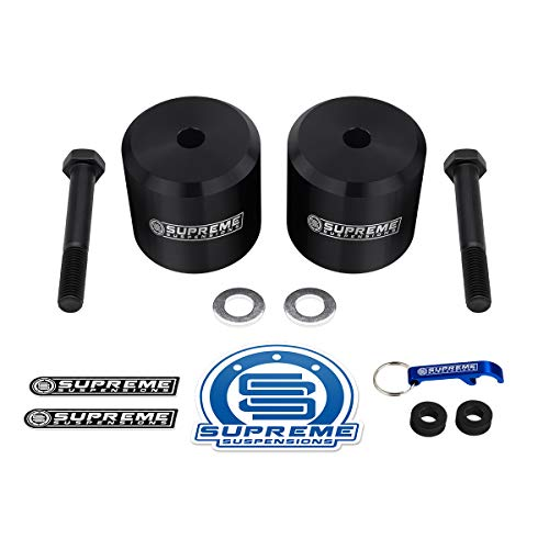 (Supreme Suspensions - Front Leveling Kit for Ford F250 F350 3 Inch Front Lift Coil Spring Spacers 4WD (Black) )