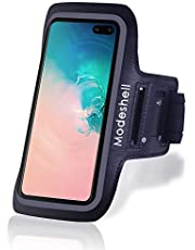 Modeshell iPhone 12 Pro/11 Pro/ 12/11 Galaxy Armband for S20/ S10/ S10 e/ S9/ S8/ S7/ J3 / A8/ A01, Sports Exercise Running Workout Phone Holder with Key Holder Slot Fingerprint Touch