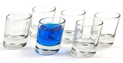 idea-station Pisa Schnapsgläser 6 Stück bis max. 5 cl transparent, Gläser-Set 6-teilig - Stamper, Shooter-Gläser, Shot-Gläser, Deko-Glas für Schnaps, Tequila, Gin, Obstbrand, Vodka oder kleines Whiskey-Glas