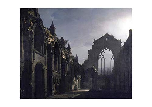 Spiffing Prints Louis Daguerre - The Ruins of Holyrood Chapel - Extra Large - Matte - Framed