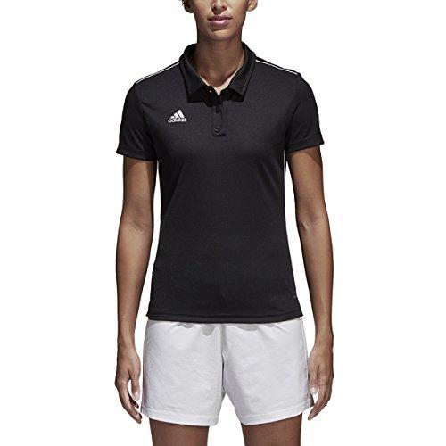 (adidas Core18 Climalite Polo Women, Black/White, X-Large)