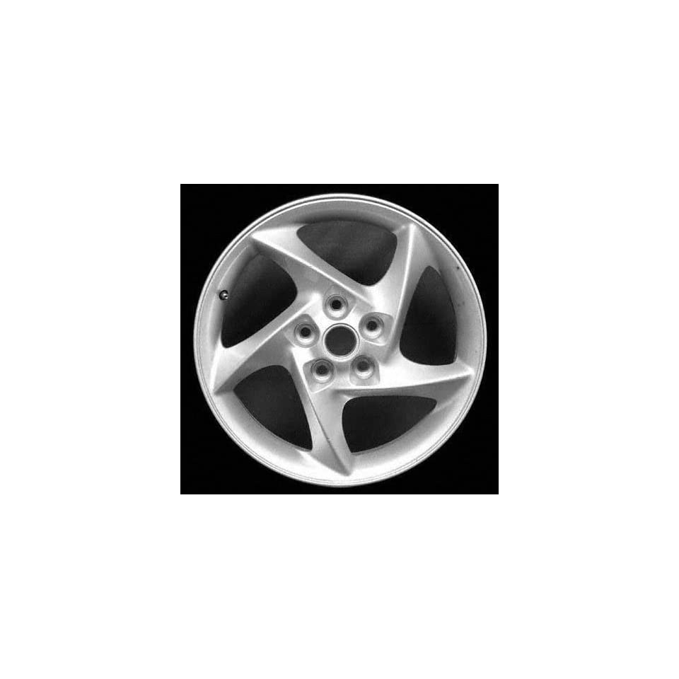 04 PONTIAC GRAND PRIX ALLOY WHEEL RIM 17 INCH, Diameter 17, Width 6.5, Lug 5 (5 TWISTED SPOKES), SILVER, 1 Piece Only, Remanufactured , (center cap not included) (2004 04) ALY06566U20