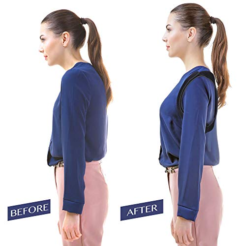 259a54876d79 Amazon.com  Posture Corrector for Men and Women - Comfortable Upper Back  Brace Clavicle Support Device for Thoracic Kyphosis and Shoulder - Neck  Pain ...