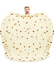 Zulay Burrito Throw Blanket Flour Tortilla Design (152cm) - Novelty Big Burrito Blanket for Adult and Kids - Premium Soft Flannel Round Burrito Blanket for Indoors, Outdoors, Travel, Home and More