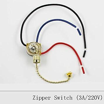 Interruptor de cadena con cierre para lámpara de techo, lámpara de pared, interruptor de ventilador de