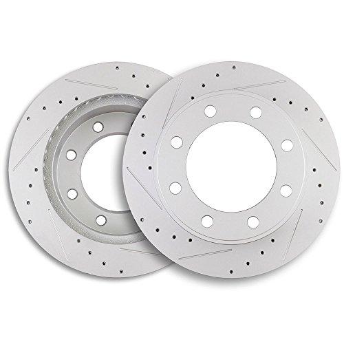 Front Discs Brake Rotors Set For Jeep Cherokee XJ 1999 Drill and Slot 2pcs//kit