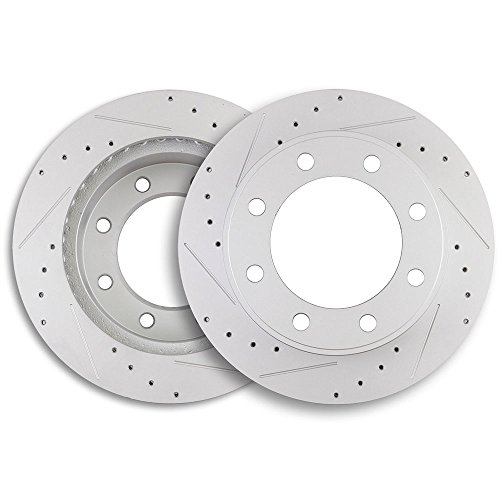 ECCPP Brake Rotors 2pcs Front Discs Brake Rotors Brake Kit for 2000 2001 2002 2003 2004 2005 Ford Excursion 1999 2000 2001 2002 2003 2004 Ford F-250 F-350 Super Duty by ECCPP