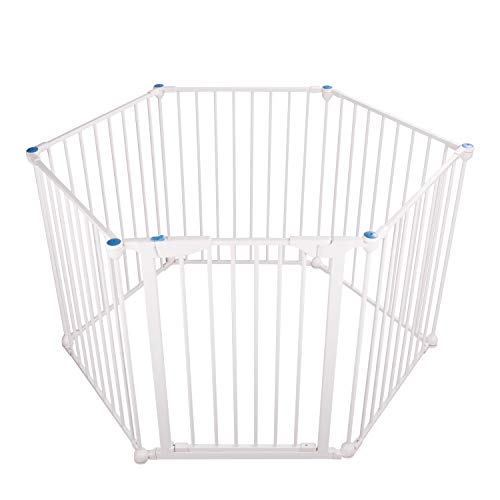 3 in 1 Play-Pen 6 Panel Safety Gate White