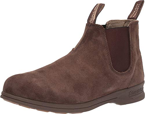 - Blundstone Suede Elastic Sided Boot (7 M AU / 8 D US) Brown/Crazy Horse