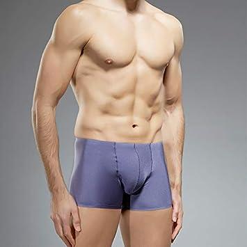 Liuxc Bragas masculinas Ropa Interior Sencilla de Hombres Ropa Interior sin Costuras Cintura Fina y cómoda