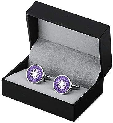 Accesorios de Camisa de Gemelos Para Hombres Ronda púrpura camisa de vestir y Gemelos gemelos clásicos