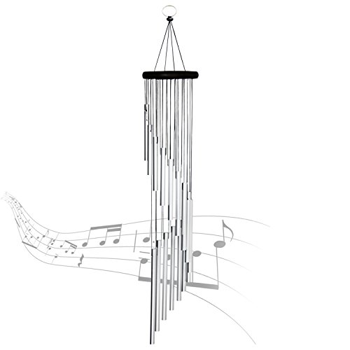"Amazing Grace Wind Chimes - 35.4"" Premium Large Wind Chimes Outdoor for Patio Garden Balcony and Home Decor (Silver)"