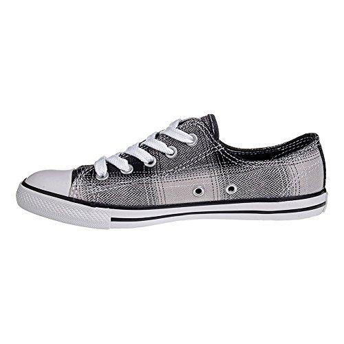 Fine Carreaux Chaussures Noir Converse En Blanc A Star Toile All Dainty Semelle Femme Baskets PE77Ww8q