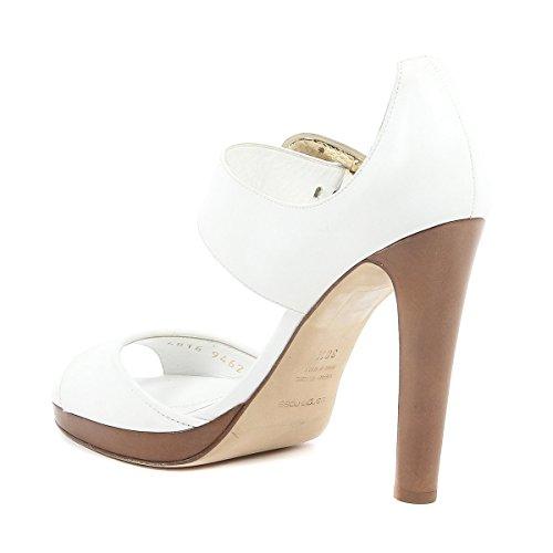 Sergio Rossi Femme AV6816003A94NG Blanc Cuir Sandales