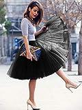 MisShow Women 50s Petticoat Crinoline Tutu Underskirts Puffy Tutu for Prom Party