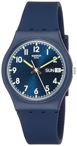 Swatch Unisex GN718 Originals Navy Blue Watch (Water Swatch Watch Resistant)