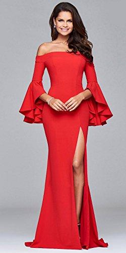 Rotes kleid langarm lang