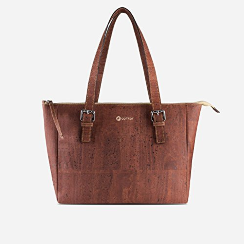Handbag Corkor Natural Red Approved Vegan Handle Satchel Cork Purse Top Women Peta T5A7q5xgw