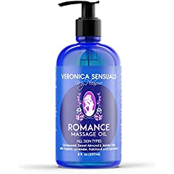 Veronica Sensuals Romance Natural Body Massage Oil for Couples 8 oz