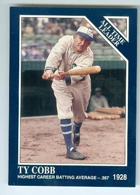 Ty Cobb baseball card (Detroit Tigers) 1992 Conlan #13 Prototype - Ty Cobb Autograph