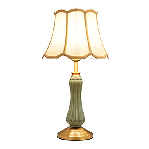 CCSUN Moderno Simple Lámparas De Mesa, E27 Cerámica Lámpara De ...