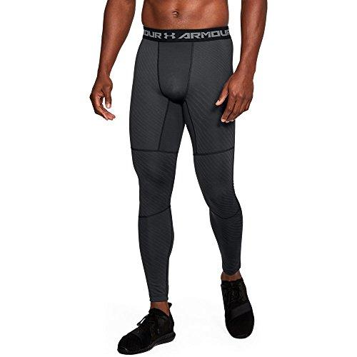 Under Armour Men's Coldgear Jacquard Compreshort Sleeveion Leggings,Black (001)/Graphite, Large