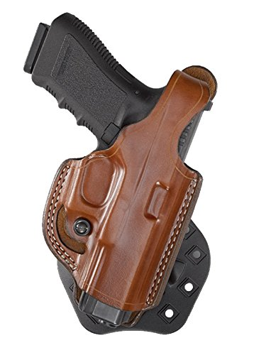 Wear Paddle Holster - Aker Leather 268 FlatSider XR17 Paddle Holster for Glock 19/23, Tan, Right Hand