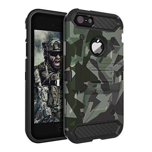 iPhone 5S Case,iPhone 5 Case,iPhone SE Case Huatrk Kickstand Heavy Duty Shockproof Protective Camo Cover for Man/Boys/Women/Girls - Camouflage Yellow (Iphone 5s Phone Covers For Boys)